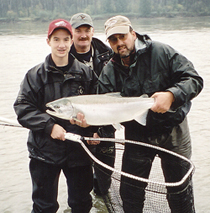 A 15 pound Coho Salmon caught and released in the Fraser River